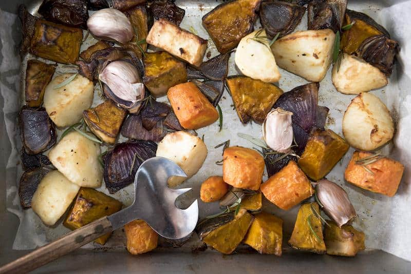 Roasted garlic vegetables