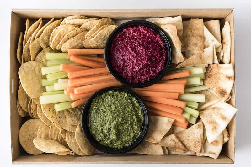 Dips, crudites, chips and crackers Platter
