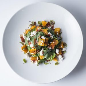 Roast Pumpkin, Proscuitto, Fetta and Pinenut Salad